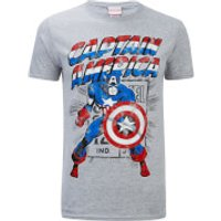 Marvel Mens Captain America Retro T-Shirt - Sports Green - XL
