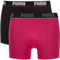 Puma Mens 2-Pack Boxers - Pink/Black - M