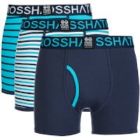 Crosshatch Mens 3 Pack All Sync Striped Boxers - Mood Indigo/Scuba Blue - XXL