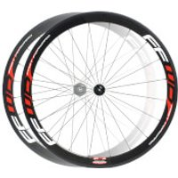 Fast Forward F4R Carbon Clincher Wheelset - Red Decals - Campagnolo