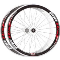 Fast Forward F4R Carbon/Alloy Clincher Wheelset - Red Decals - Campagnolo
