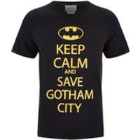 DC Comics Batman Mens Keep Calm T-Shirt - Black - L
