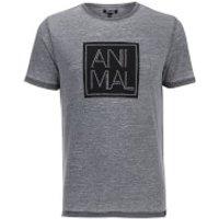 Animal Mens Lureo T-Shirt - Total Eclipse Navy Marl - S