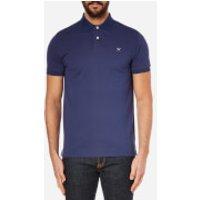 Hackett London Mens Tailored Logo Polo Shirt - Blue/Grey - S