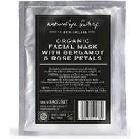 Natural Spa Factory Organic Face Mask with Bergamot, Argan and Rose Petals
