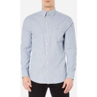 GANT Mens Indigo Long Sleeve Shirt - Dark Indigo - XL