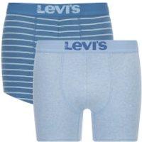 Levis Mens 200SF 2-Pack Vintage Stripe Boxers - Dark Blue - M