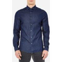 Michael Kors Mens Slim Indigo Long Sleeve Shirt - Dark Wash - XXL