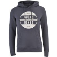 Jack & Jones Mens Core Trevor Graphic Hoody - Ombre Blue - XXL