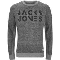 Jack & Jones Mens Core Cope Sweatshirt - Light Grey Marl - M