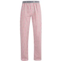 Ben Sherman Mens Check Ashley Lounge Pants - Red/White - XL