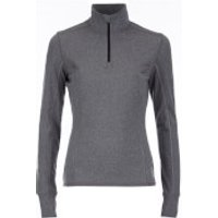 Superdry Womens Gym Half Zip Track Top - Charcoal Grit - L