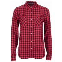 Superdry Womens Classic Boyfriend Shirt - Coral Gingham - S