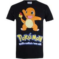 Pokemon Mens Charmander T-Shirt - Black - S