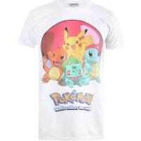 Pokemon Mens Groupball T-Shirt - White - XXL