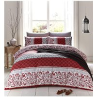Catherine Lansfield Oriental Birds Bedding Set - Spice - King - Spice