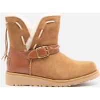 UGG Kids Tacey Short Buckle Sheepskin Boots - Chestnut - UK 2 Kids