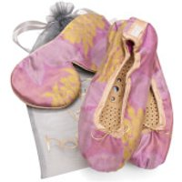 Holistic Silk Eye Mask Slipper Gift Set - Rose - S