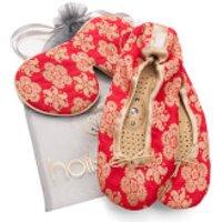 Holistic Silk Eye Mask Slipper Gift Set - Scarlet - L
