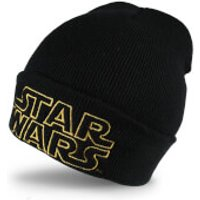 Star Wars Mens Retro Logo Beanie - Black