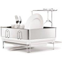 simplehuman Compact Brushed Steel Dish Rack
