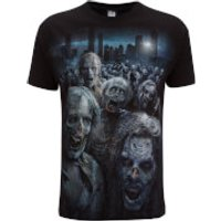 Spiral Mens Walking Dead Zombie Horde T-Shirt - Black - L