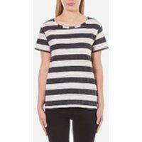 Maison Scotch Womens Loose Fit T-Shirt in Stripes - Multi - UK 10/2