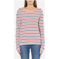 Maison Scotch Womens Long Sleeve Breton T-Shirt - Multi - UK 12/3