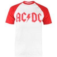 ACDC Mens Logo Raglan Logo T-Shirt - White/Red - M