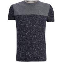 Brave Soul Mens Winfrey Panel T-Shirt - Navy - XL