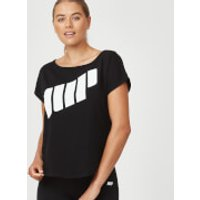 Scoop Logo T-Shirt - M - Black