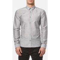 HUGO Mens Ero3 Long Sleeve Shirt - Open Grey - XXL