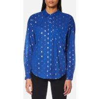 Maison Scotch Womens Long Sleeve Shirt - Blue - 1/UK 8