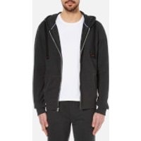 Tommy Hilfiger Mens Icon Zip Through Hoody - Charcoal Grey - S