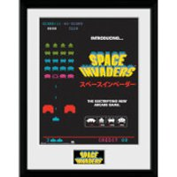 Space Invaders Adverts Framed Photographic - 16 x 12