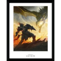 Skyrim Daedric Armor Framed Photographic - 16 x 12