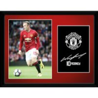 Manchester United Rooney 16-17 Framed Photographic - 16 x 12