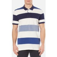 GANT Mens Oxford Multi Stripe Rugger Polo Shirt - Yale Blue - L