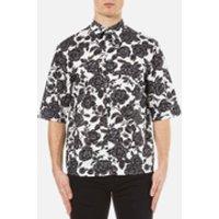 MSGM Men's Floral Short Sleeve Shirt - Multi - 15 3/4 /M - Multi