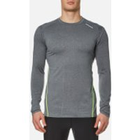 Bjorn Borg Mens Pierre Long Sleeve Performance T-Shirt - Anthracitre Grey - S