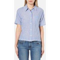 Levis Womens Short Sleeve Sidney Shirt - Contrabassoon White - L