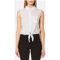Guess Womens Clara Shirt - Dizzy Stripes - L