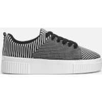 Kendall + Kylie Womens Rikki Flatform Trainers - Black/White - UK 4/US 6