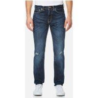 Edwin Mens ED-80 Slim Tapered Rainbow Selvedge Denim Jeans - Contrast Dark Wash - W36/L34