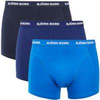 Bjorn Borg Mens Three Pack Solid Boxer Shorts - Sky Diver - S