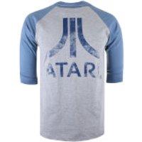 Atari Mens Logo Long Sleeve T-Shirt - Grey/Blue - S