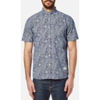 Penfield Mens Cuyler Short Sleeve Shirt - Blue - XL