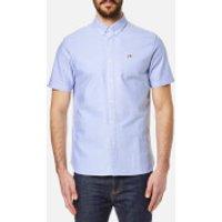 Penfield Mens Danube Short Sleeve Shirt - Blue - S