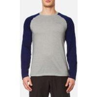 Craghoppers Mens NosiLife Bayame Long Sleeve T-Shirt - Soft Grey Marl/Night Blue - XL