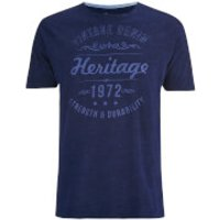 Brave Soul Mens Durable Print T-Shirt - Indigo - M